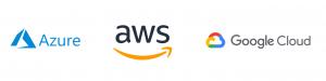 Cloud Anbieter Microsoft Azure, Amazon Web Services AWS und Google Cloud Plattform
