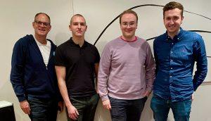 Innovations ON GmbH übernimmt Mehrheitsanteile der DI-ON.solutions; Oliver Schallhorn, Henry Burkert, Niklas Mengele und Tom Simon