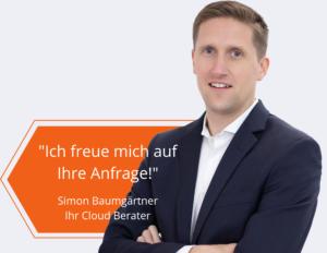 Cloud und Kosten Kontakt von Innovations ON GmbH Simon Baumgärtner