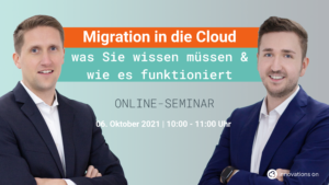 Migration in die Cloud Webinar von Innovations ON