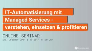 Managed Service Webinar von Innovations ON